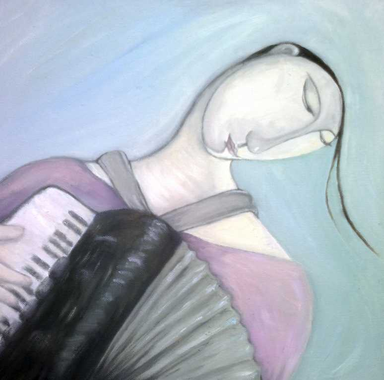 painting of accordion player