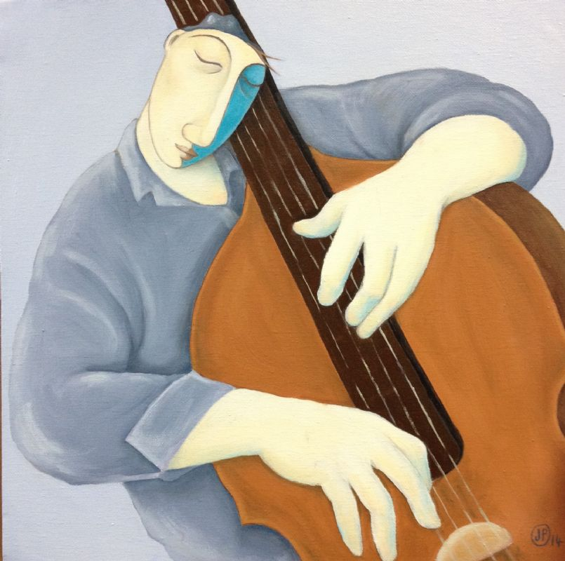 The Double Bass Player by Joanna Powell