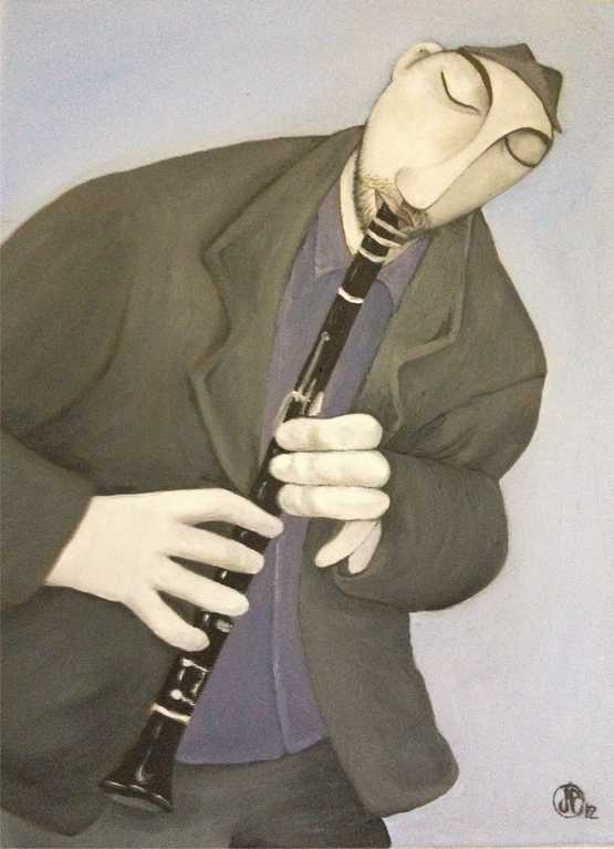 the clarinet player