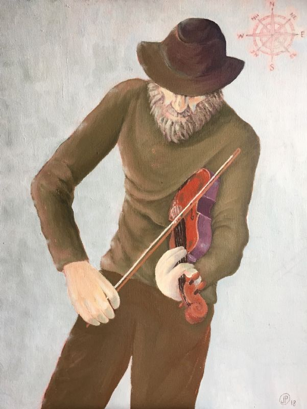 The Fiddler in grey hat